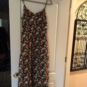 J crew full length flower dress